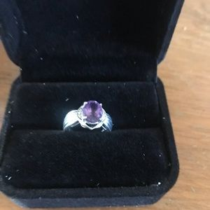 Silver Genuine Amethyst with Diamonds 💎